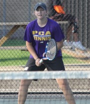 PCA senior Rachel Costello lettered in tennis, one of five sports she was planning to letter in during her career.