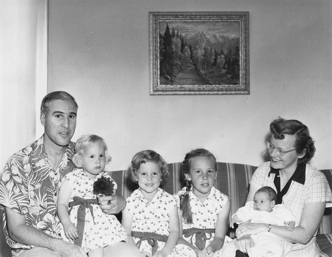 Donna Reiner (third from left) with her family.