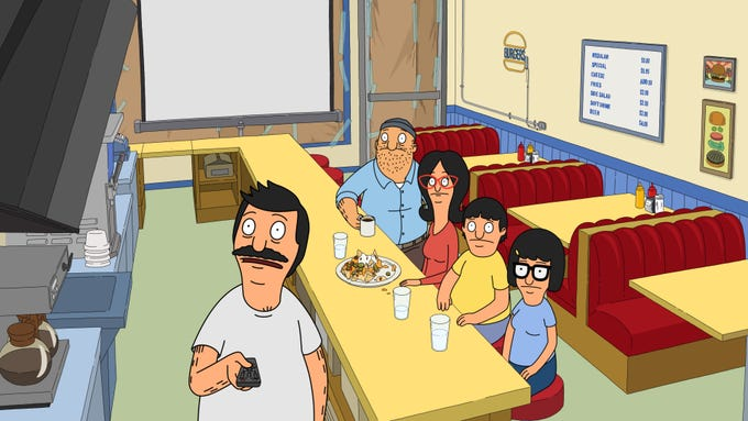 <strong>&ldquo;Bob&rsquo;s Burgers&rdquo;</strong>&nbsp;|There&rsquo;s a lot of dysfunction on this list. Maybe it makes us feel better about our own families in comparison. Bob and Linda Belcher may not be the greatest parents in the world, but like Marge and Homer Simpson, there&#39;s no doubt that they love their family. And despite their antics, the kids love them. Most of the episodes take place in the restaurant, school or the apartment above the restaurant. We know where we are. And we like it. <strong>How to watch:</strong> Fox, stream on Hulu.