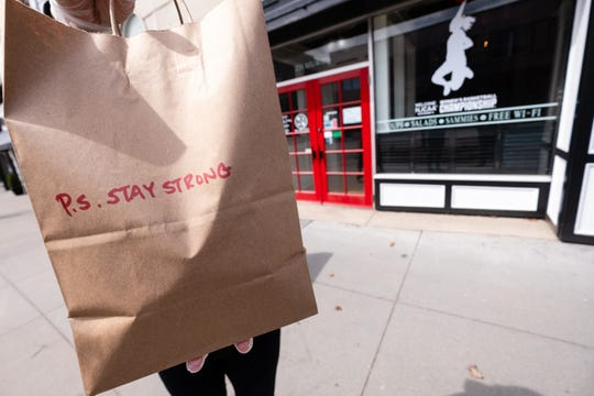 Kate's Downtown has been selling care packages containing coffee beans, loose leaf tea, gloves, toilet paper, masks and cookies during the coronavirus pandemic.