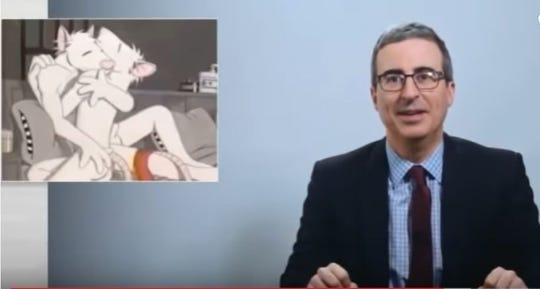 """The piece of raterotica titled """"Stay Up Late"""" is now in John Oliver's possession."""