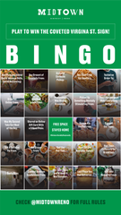 The Midtown District has launched a Bingo game to help local businesses during the coronavirus outbreak.