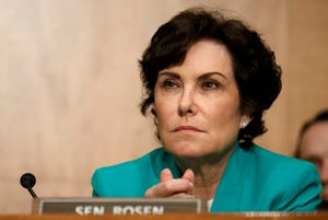 Sen. Jacky Rosen, D-Nev., during a committee hearing on  Tuesday, July 30, 2019, on Capitol Hill in Washington. (AP Photo/Jacquelyn Martin)