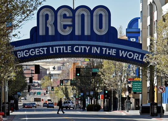 Images from near and around downtown Reno amid the coronavirus on Monday April 13, 2020.