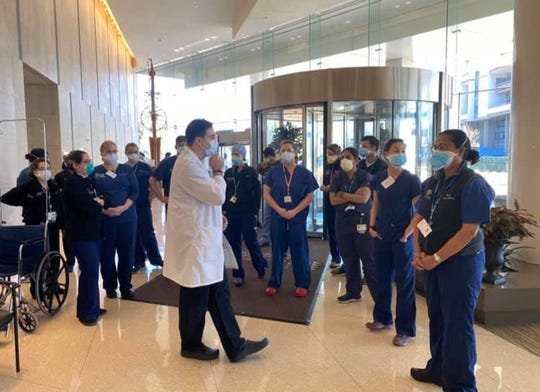 An Emergency Medicine team from URMC  spent nearly a week supporting medical staff at Northwell Health's North Shore University Hospital and Long Island Jewish Medical Center.