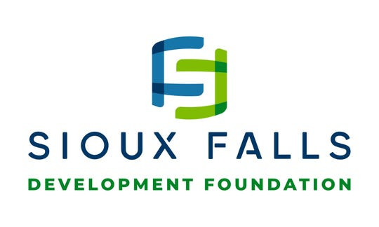 A new logo for the Sioux Falls Development Foundation