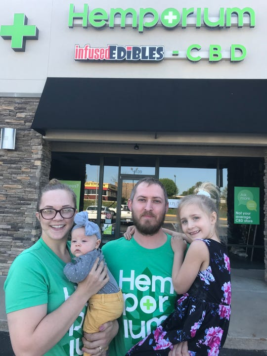 Greg and Rachel Lee, with their daughters, say they will soon go out of business. The couple says they are not allowed to open their doors to customers, but they can't sell curbside, they can't deliver and -- this is what dumbfounds them -- they can't even touch any of their in-store merchandise to ship it.