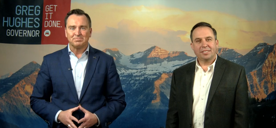Greg Hughes announced Washington County Commissioner Victor Iverson will be his running mate in his run for Utah governor.