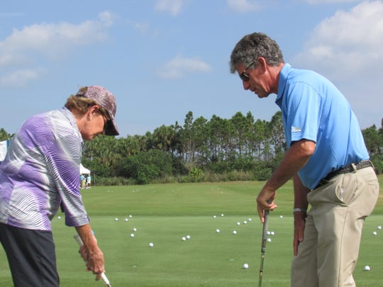 Kevin Compare gives golf instructions in this photo submitted by the South Florida PGA.