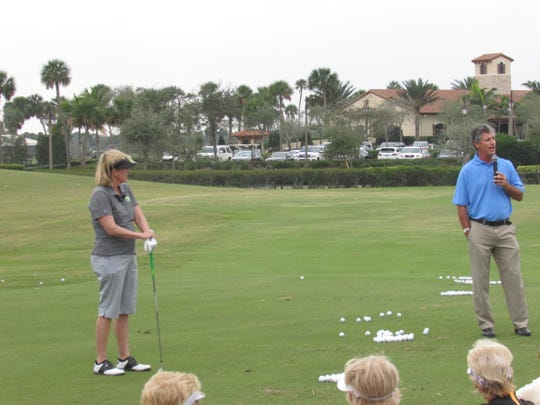 Kevin Compare speaks to the crowd in this photo submitted by the South Florida PGA.