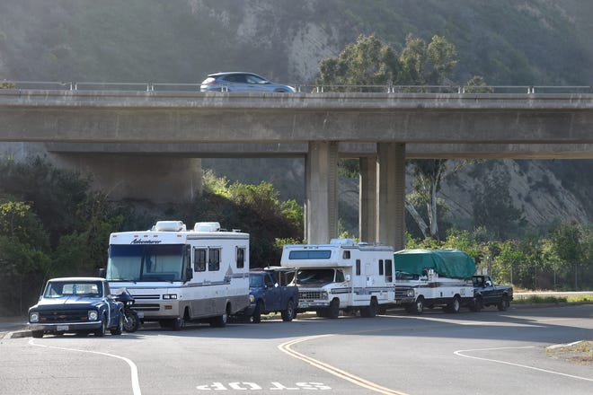About 25 people living in their vehicles near Crooked Palm Road were asked by local authorities to leave within 72 hours. That deadline is Thursday.