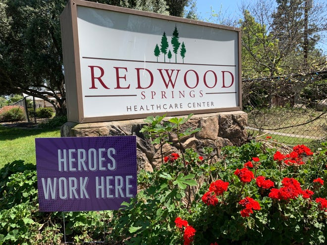 Redwood Springs Healthcare Center on Tuesday, April 14, 2020.