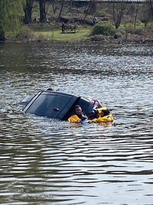 Westchester County Police Rescue Woman From Woodlands Lake
