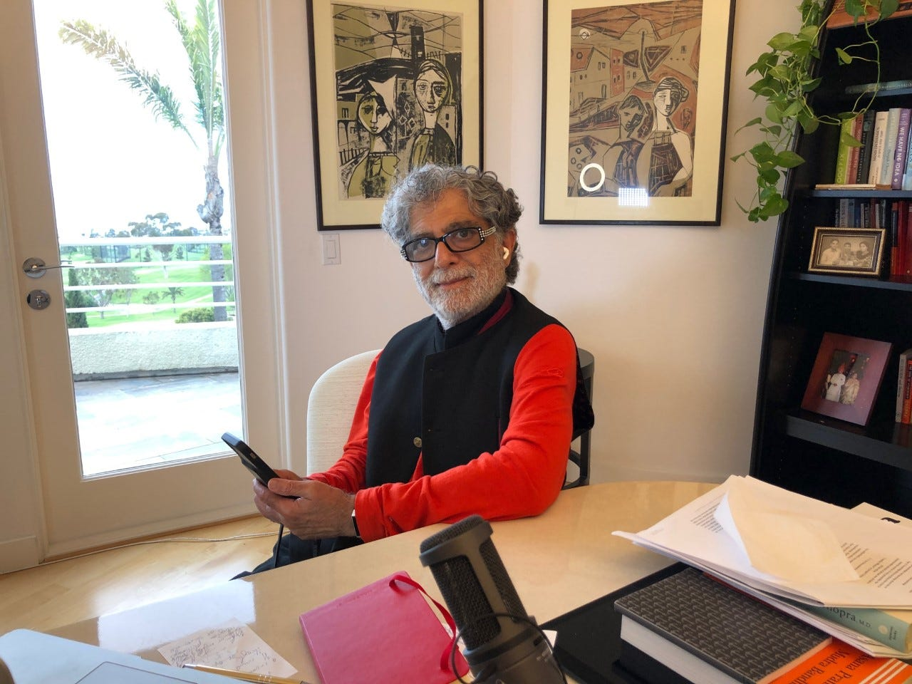 Quarantine Diaries: Deepak Chopra is doubling his yoga routine and dreaming of his late parents