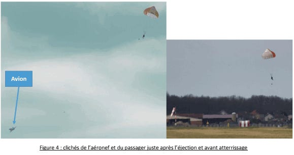 A French man ejected himself from a fighter jet last year after taking a surprise joyride through the skies, an incredible French government report published last week revealed.