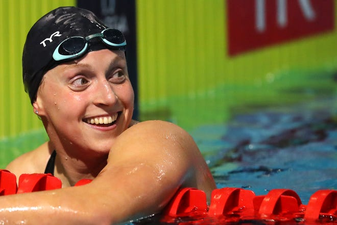 Olympic star Katie Ledecky is among U.S. athletes participating in a special at-home drug testing program sponsored by USADA.