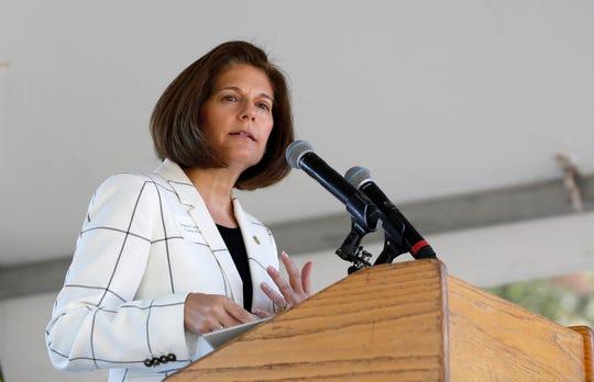 Sen. Catherine Cortez Masto, D-Nev., could help Joe Biden win Hispanics' support.