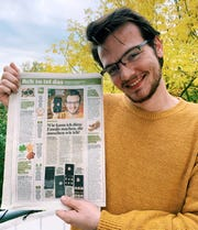 Maxwell Honzik, a University of Wisconsin-Oshkosh graduate, was evacuated back to the U.S. while taking part in a yearlong exchange program in Germany due to the global outbreak of COVID-19. The early departure from the program has created an uncertain future for Honzik.