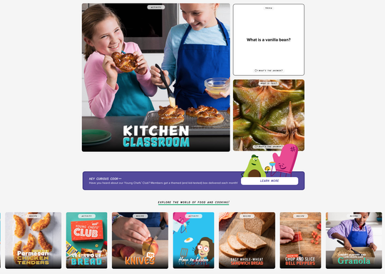 A screen shot of the online Kitchen Classroom of America's Test Kitchen