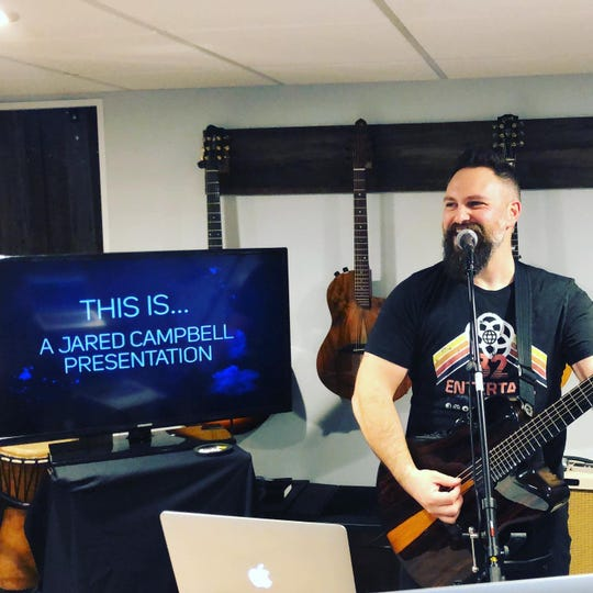 Musician Jared Campbell offers virtual assemblies for local school districts. Assemblies can be streamed online right from students' homes.
