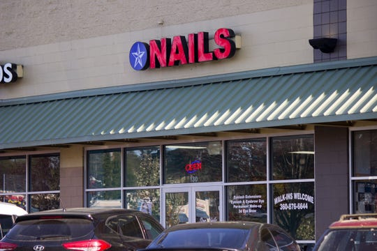 A Star Nails location in Port Ochard open for business on Tuesday, April 14, 2020.