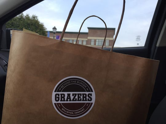 A takeout order from Grazers in Williston on April 14, 2020.