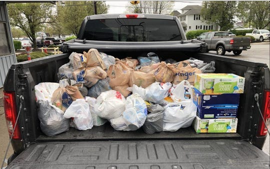Employees of Pixelle Specialty Solutions collected 1,400 pounds of goods over a two week period to donate to the Good Samaritan Food Pantry.