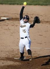 Paint Valley's Abbi Stanforth hurls a pitch towards home plate last season in a win over Western in Bainbridge.
