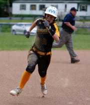 Paint Valley's Olivia Smith sprints to third base during the Bearcats' 8-5 win at Clay on May 9, 2019 in a Division IV sectional final.