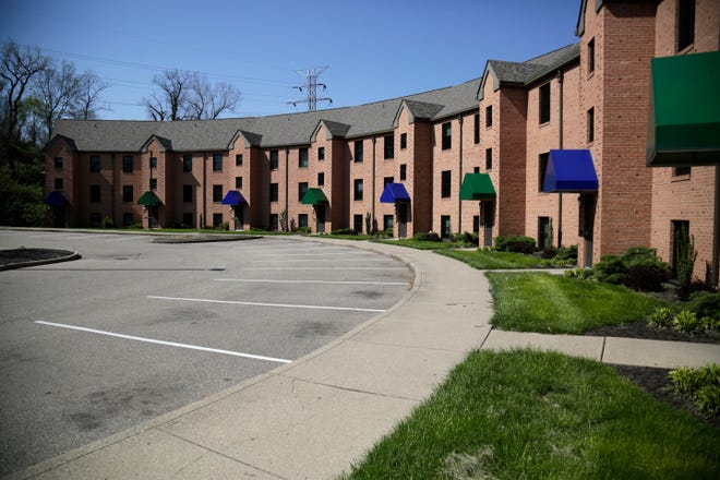Dorm rooms are converted for hospital workers at the Xavier Village housing complex near the campus of Xavier University in Cincinnati on Wednesday, April 15, 2020.