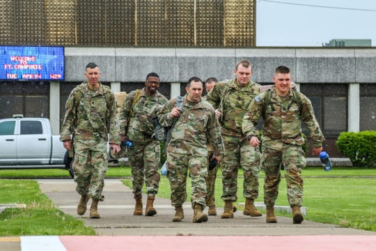 Soldiers of 101st Airborne Division Sustainment Brigade, 101st Division (Air Assault), deployed to New Jersey as part of the nation's response to the COVID-19 pandemic.
