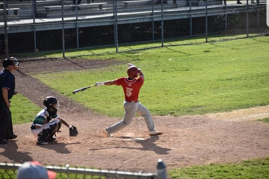 Edison baseball player Ethan Vargas at the plate last season