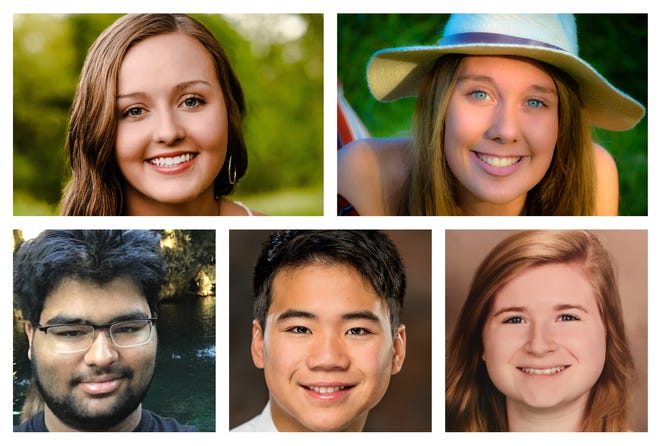 Academic All-State 2020 northwest region standouts: Alexa Heitman, Sergeant Bluff-Luton; Jordan Grothe, Ridge View; Mihir Modi, Algona; Derek Hwang, Sioux City North; and Foster Johnson, Sioux City Bishop Heelan.