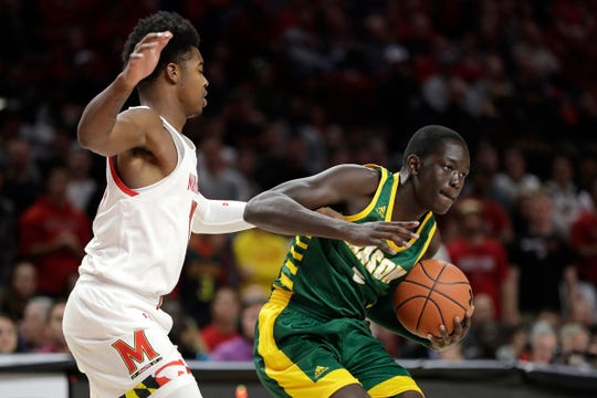 George Mason forward Goanar Mar signed with Northern Iowa Wednesday after entering the transfer portal earlier this month.