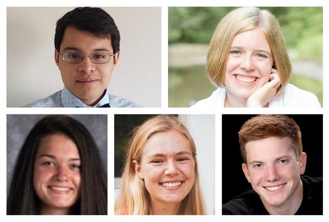 Academic All-State 2020 central region standouts: Andres Cordoba, Ames; Emily Huisinga, Ballard; Courtney Dawson, Newton; Eliana Hornbuckle, Nevada; and Jack Drey, Dowling Catholic.