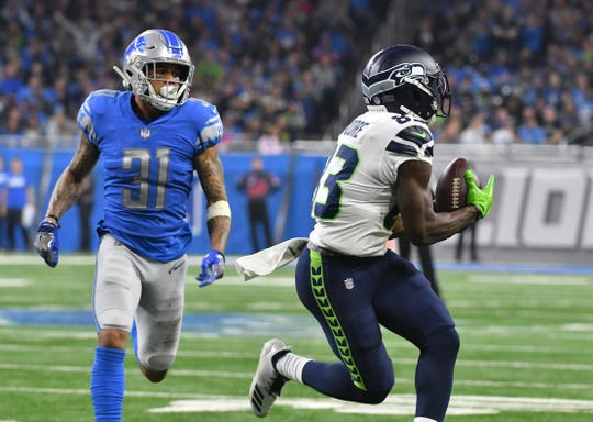 Lions cornerback Teez Tabor (31) was cut after two unproductive seasons in Detroit.