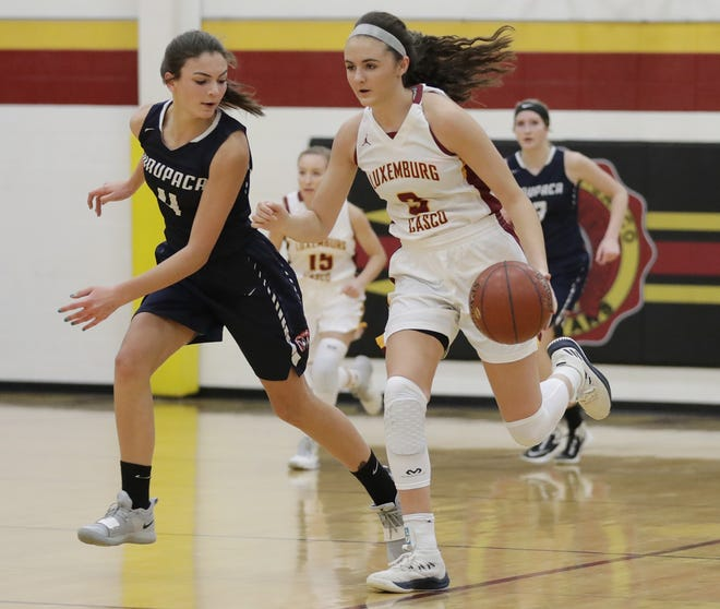 Former Luxemburg-Casco star Cassie Schiltz (3) missed her first season at the University of Wisconsin-Green Bay with an injury.