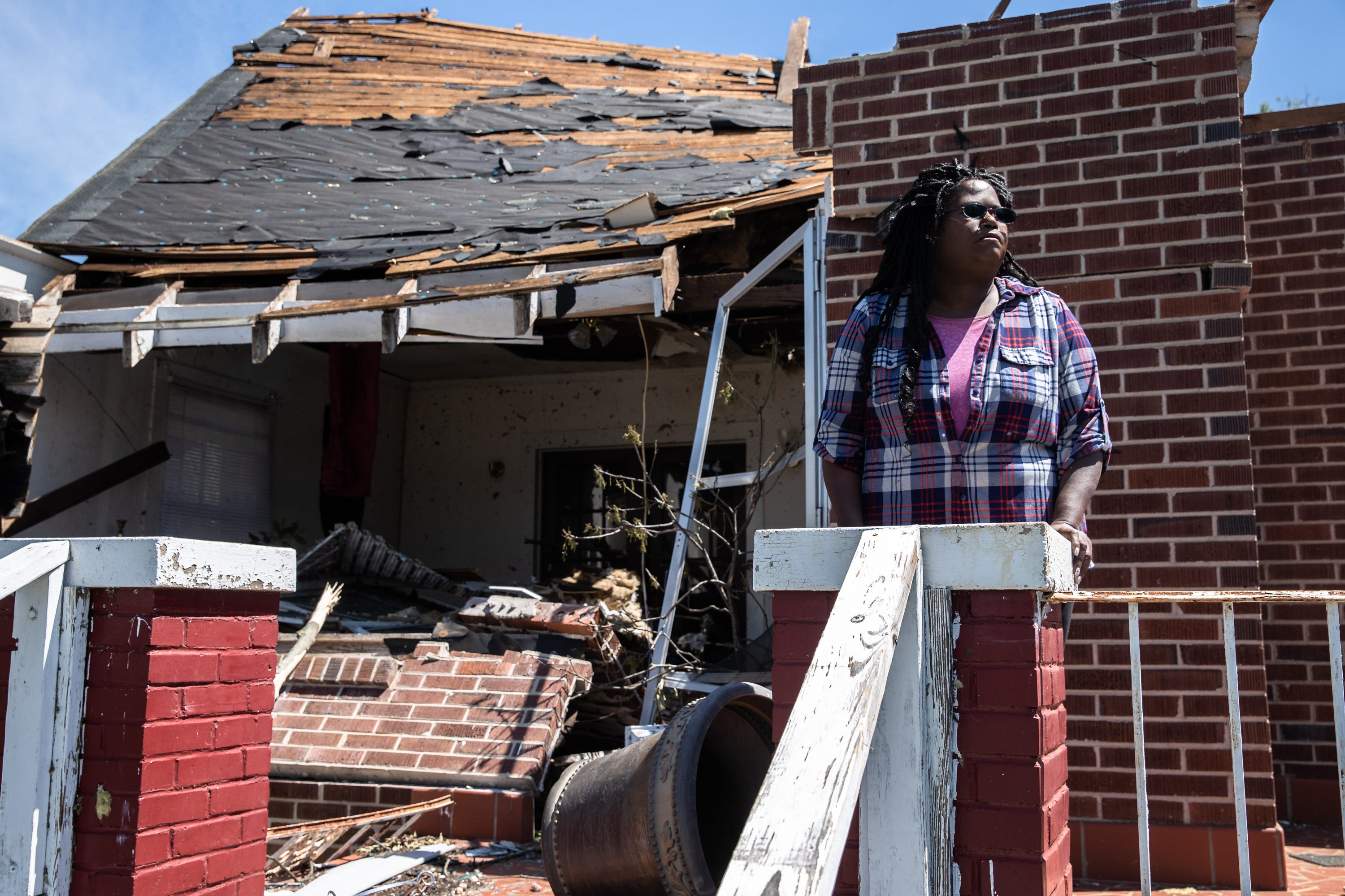Stephanie Scott, 50, at her Seneca, SC home on South Oak Street April 15, 2020, which an insurance adjuster deemed a total loss after an EF3 tornado with 160 mph winds touched down in the early morning hours of Monday, April 13th.