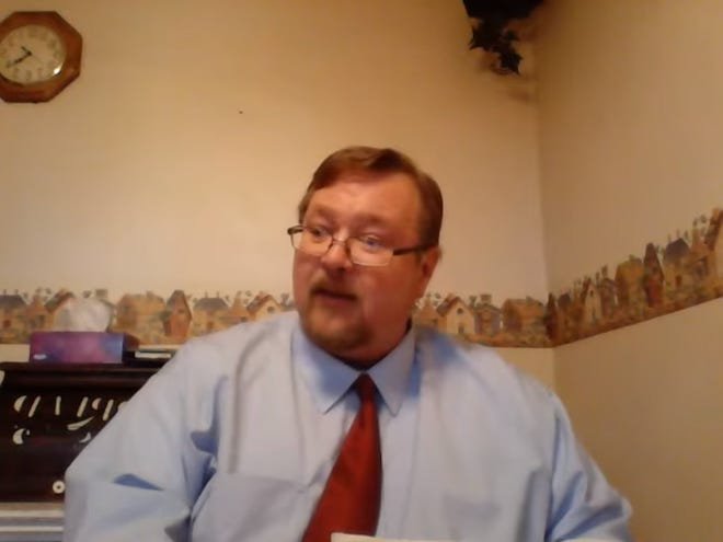 A screenshot of Muscatine County Jail Administrator Dean Naylor from a video on his YouTube channel uploaded March 29, 2015.