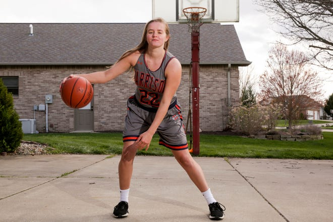 Harrison's Sydney Jacobsen is the 2020 Journal & Courier Big School Girls Basketball Player of the Year.