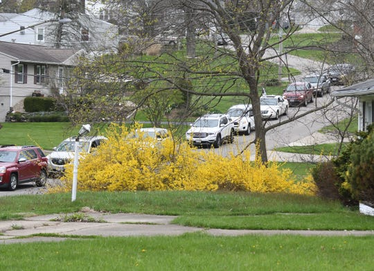 A caravan of cars filed past the house of Fred and LulaMae Williams on Wednesday to celebrate the 100th birthday of Fred.