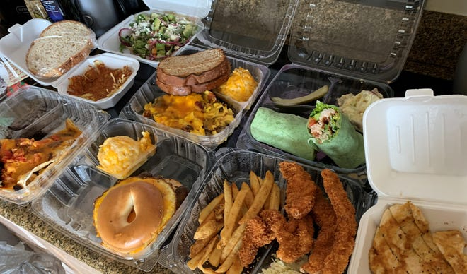 Assorted takeout from Red Rooster, Marco Island.