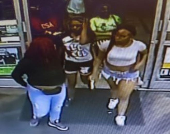 Police are looking for the identities of these people who were out past curfew and took beer and food from a convenience store, according to CrimeStoppers.