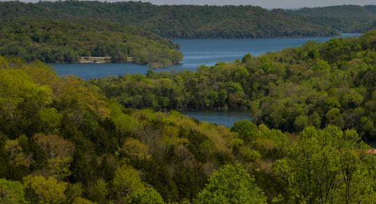 A view of Center Hill Lake from Cove Hollow Rd.  Wednesday, April 15, 2020 in Lancaster, Tenn.