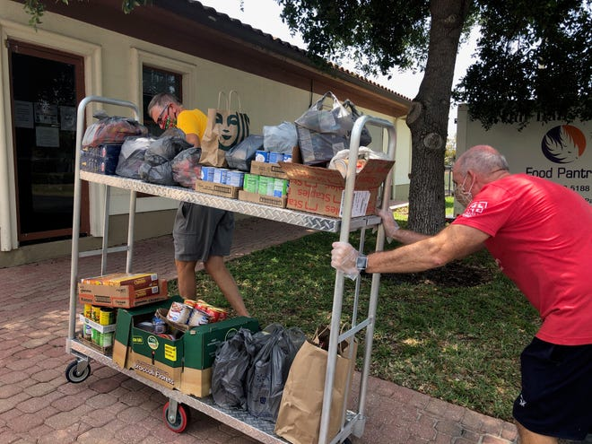 Our Daily Bread Food Pantry on Marco Island works with organizations like the Paradise Region Gruppe to receive and deliver food.
