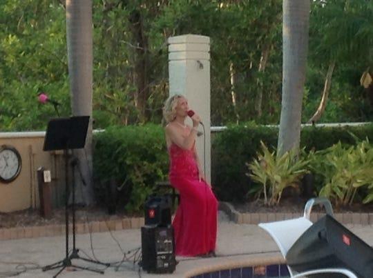 Jodi Keogan performs at Pelican Bay on April 9, 2020.