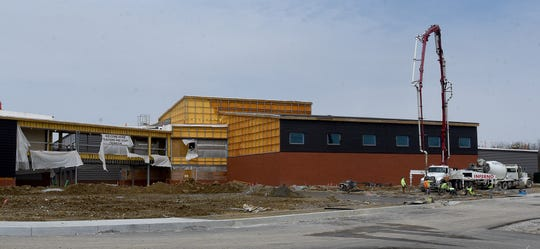 Construction work continues on the new Licking Heights High School.