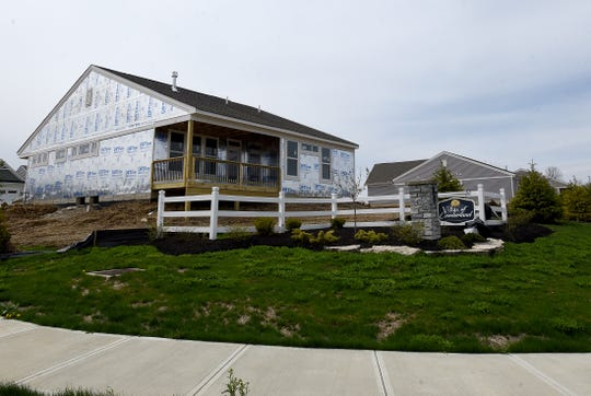 New housing construction around Cumberland Golf Course in Pataskala.