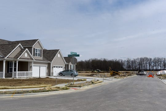 New housing construction in the Broadmoore Commons neighborhood off East Broad Street in Pataskala.