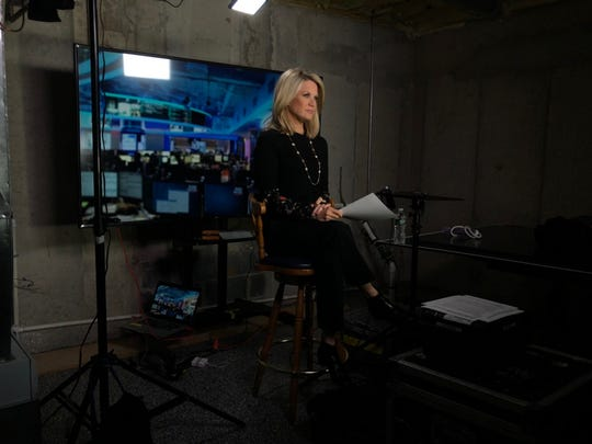 FOX News Channel anchor Martha MacCallum prepares to broadcast from the basement of her home in the greater Millburn area during the coronavirus pandemic.